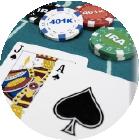 21點撲克牌遊戲之一